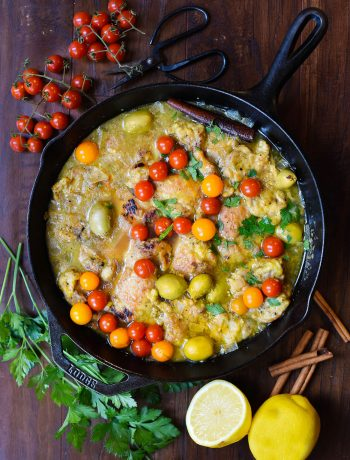 chicken stew with tomatoes and parsley