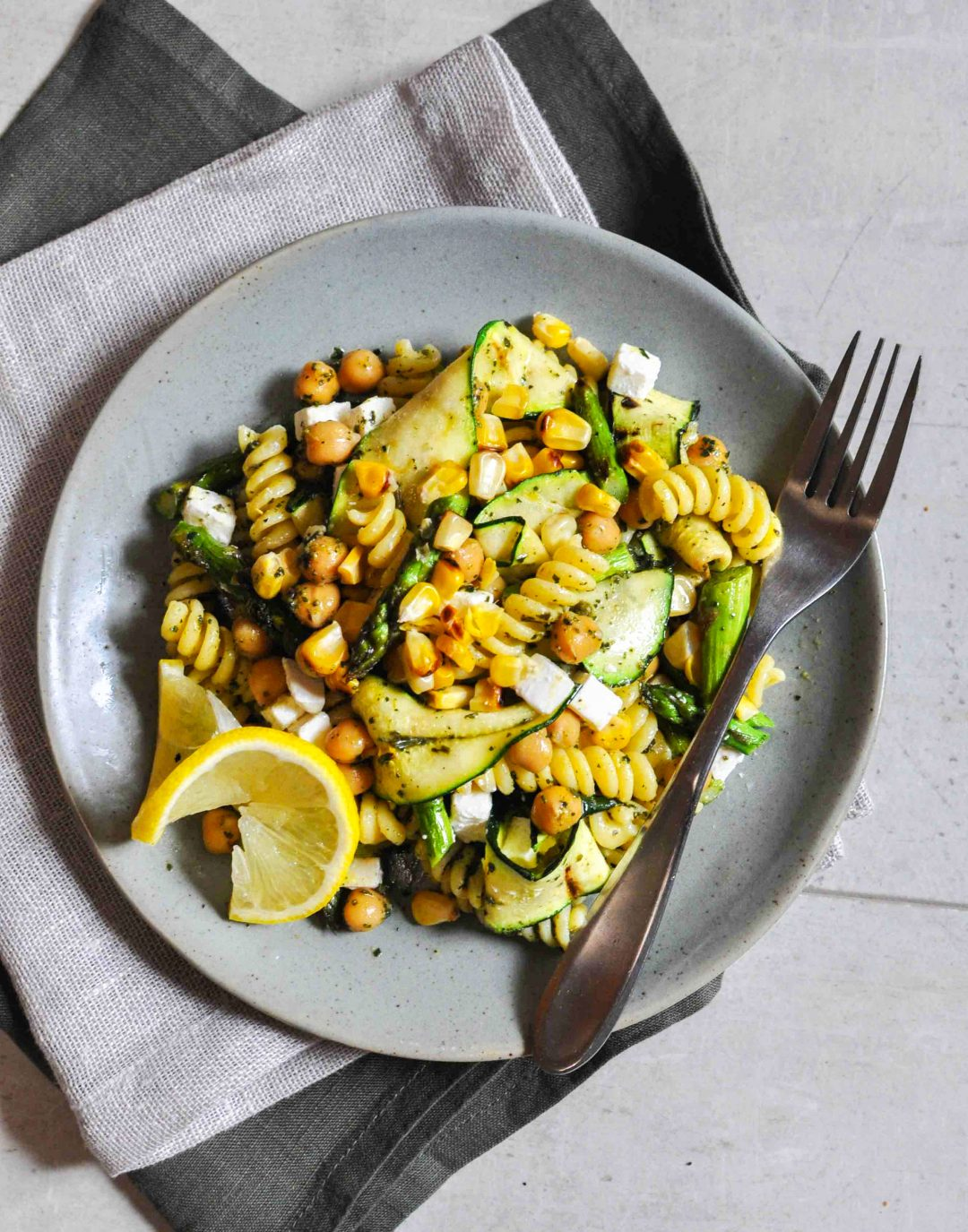zucchini salad on plate